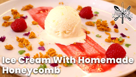 How To Make Ice Cream With Homemade Honeycomb