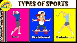 Sports Name For Kids - Sports Name With Pictures - Easy Way To Learn Kids About Sports