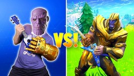 Thanos Rocks Avengers Fortnite Dance Challenge In Real Life