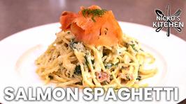 Salmon Spaghetti - Creamy Pasta & Smoked Salmon
