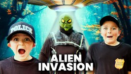 What Happened To The Alien? Weird Area 51 UFO Alien Invasion Kids Pretend Play Skit