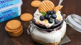 Probiotic No-Bake Blueberry Cheesecake