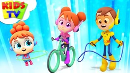 Exercise Song - The Supremes Cartoons - Children Songs And Learning Videos - Kids Tv