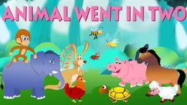 Animals Went In Two By Two - Nursery Rhymes For Toddlers - Cartoon Videos For Children