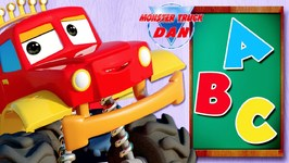 ABC Song - Monster Truck Dan Car Cartoons - Learning Videos by Kids Channel