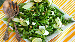 Salad Recipe- Arugula, Peas, Asparagus And Zucchini Salad