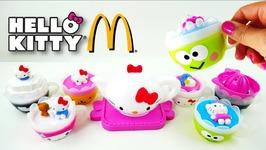 McDonalds Hello Kitty Tea Set Happy Meal Toys 2017 Full Set