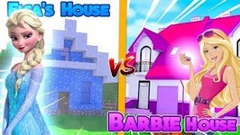 ELSA'S ICE HOUSE VS BARBIE'S DREAM HOUSE!! (Noob Vs Noob?) w/Little Carly and Britney.