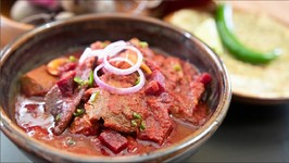 Chukander Gosht - Meat cooked With Beetroot Curry