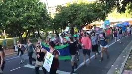 Crowds Gather in Cairns to Protest Adani Coal Mine