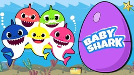 BABY SHARK GIANT SURPRISE EGGS Filled with Surprise Toys  Toy Sharks