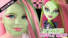 Venus McFlytrap Monster High Doll Costume Makeup Tutorial for Cosplay or Halloween