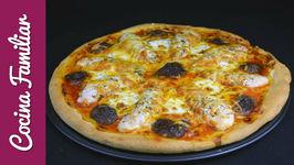 Pizza de pollo y setas con receta de la masa