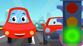 Little Red Car - Signals Every Where - Car Songs For Children