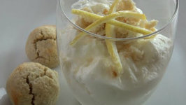 Lemon Syllabub With Amaretti Macaroons