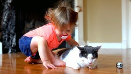 Baby Loves Her Kitty - Too Cute!!
