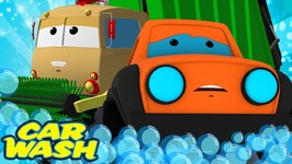 Road Rangers Go To Car Wash - Street Vehicle Videos - Car Cartoons For Kids