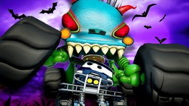 Scary Car Chase - Haunted House Monster Truck Vs Monster Truck Dan - Car Cartoons by Kids Channel