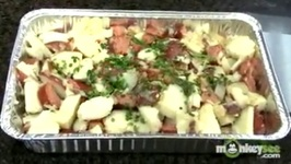 Tailgating Recipes - Heisman Potato Salad with Grilled Kielbasa