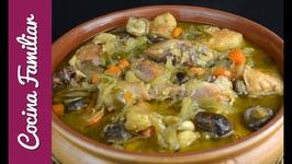 Como hacer gallina en pepitoria, receta tradicional - Recetas caseras