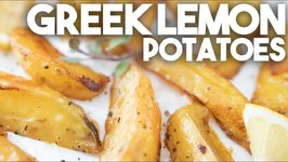 The Most Amazing Greek Lemon Potatoes ever - One Pan