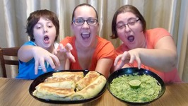 Meat Stuffed Blini And And Guacamole-Gay Family Mukbang- Eating Show