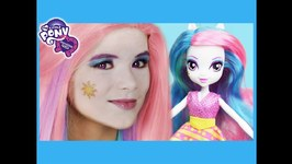 My Little Pony Princess Celestia Makeup Tutorial - Equestria Girl Doll Cosplay