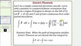 Evaluate A Line Integral Of Fdr Around A Circle With Greens Theorem