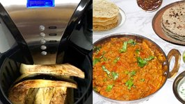 Air Fryer Baingan Bharta - Roasted Eggplant Curry