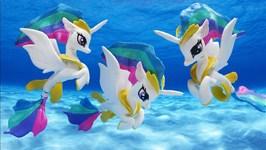 Queen Novo Princess Celestia Seapony Transformation My Little Pony Custom