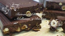 Turron De Chocolate Y Avellanas Con Baileys  Turron De Chocolate Casero  Como Hacer Turron