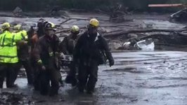 California Firefighters Rescue Girl from Montecito Mudflow