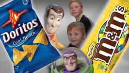 Toy Story 4 - M And M Candy Or Doritos - Woody And Buzz Lightyear - IRL