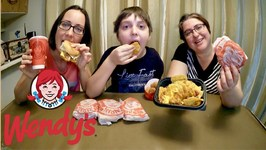 Wendy's Value Menu / Gay Family Mukbang - Eating Show