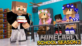 Minecraft School-Season 2-MEETING THE NEW TEACHER!!