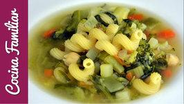 Sopa de verduras paso a paso, recetas para dieta - Recetas caseras