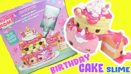 Num Noms Birthday Cake Slime Kit Unboxing  Scented Unicorn Slices! Crafts for Kids