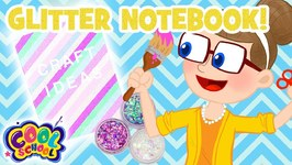 Glitter Notebook - Back to School Crafts with Crafty Carol - Cartoons for kids - Crafts for Kids