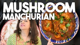 MUSHROOM Manchurian - Vegetarian Vegan Indo Chinese