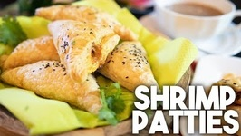 Shrimp Or Prawn Patties / Stuffed Puff Pastry Snack / Kravings