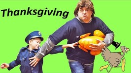 Who Stole Thanksgiving? Silly Funny Kids Video With Sketchy Mechanic And Special Tag Challenge