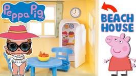 PEPPA PIG Lights and Sound Beach House - LOL Dolls Mermaid Treasure Surprise Toys