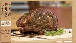 Pecan Smoked Fresh Herb-Crusted Prime Rib