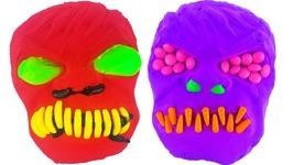 DIY How to Make Kinetic Sand Hulk Mask Brush Teeth Learn Colors Candy