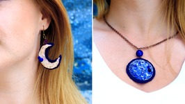 DIY Hot Glue Moon Jewelry