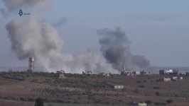 Plumes of Smoke Seen as Strikes Reported on Idlib Town