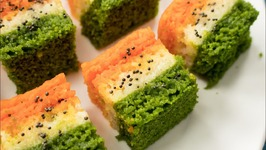Tiranga Rava Dhokla / Indian Independence Day Special Indian Suji Tricolor Dhokla