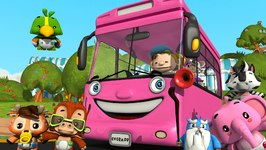 Wheels on the Bus - Pink Wheels on the Bus - Kindergarten Songs for Kids