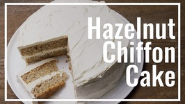 Hazelnut Chiffon Cake With Marshmallow Fluff Icing