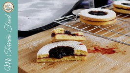 Easy Linzer Cookies With Cherry Jam And Chocolate